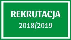 Rekrutacja do placówek oświatowych prowadzonych przez Gminę Drużbice na rok szkolny 2018/2019