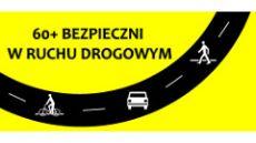 logo akcji 60+ bezpieczni wruchu drogowym