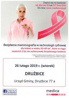 Bezpłatna mammografia - nie tylko wpaździerniku